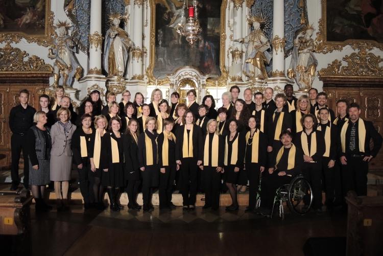 Benefizkonzert des Zonta Club Ingolstadt 2013 in der Asamkirche mit dem Gospel Sunshine Chor