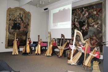 Musikalische Begleitung des Festaktes mit dem Harfenensemble von Beate Fürbacher ©Zonta Club Ingolstadt